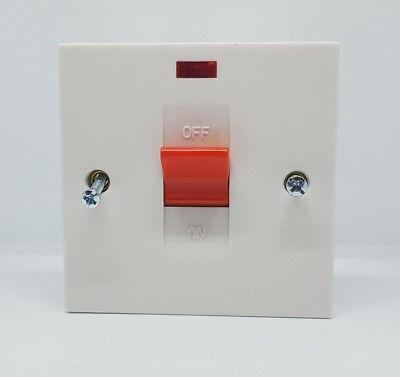 £7.50 • Buy Ashley 45amp Double Pole Switch With Neon For Cookers And Showers
