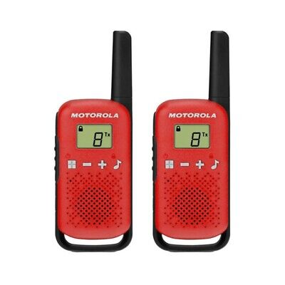 £24.99 • Buy Motorola TALKABOUT T42 Twin Pack Two-Way Radios In Red PMR 446 Compact