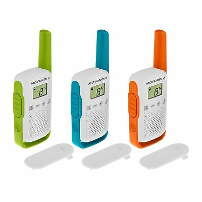 £38.99 • Buy 3 X Motorola TALKABOUT T42 Triple Pack Two-Way Radios Childrens PMR 446 Compact