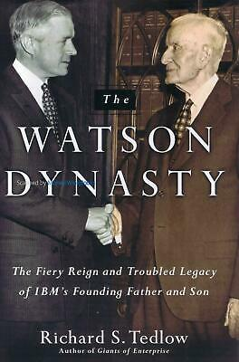 The Watson Dynasty - Richard S. Tedlow History Of Early IBM - Hardback New Book • 6.95£