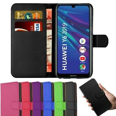 Case For Huawei Y6 Y7 P Smart 2020 2019 Leather Magnetic Flip Wallet Stand Cover • 2.85£