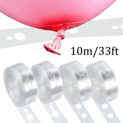 $4.96 • Buy 10m Balloon Chain Tape Arch Connect Strip For Wedding Birthday Party Decoration
