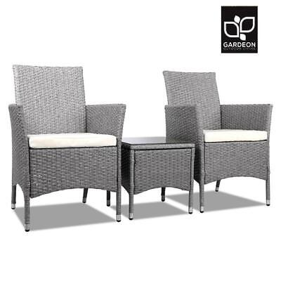 AU186.15 • Buy Gardeon Patio Furniture Outdoor Setting Bistro Set Chair Side Table 3 Piece