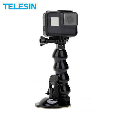 £9.97 • Buy TELESIN Suction Cup Flexible Mount Holder & Phone Clip For GoPro DJI Osmo Action