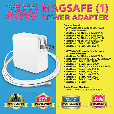 $13.83 • Buy 60W Power Adapter Supply Charger For Apple Macbook Pro 13  A1181 A1184 A1278
