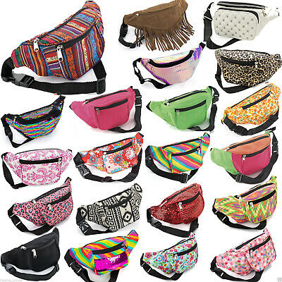 £6.40 • Buy Bum Bag Fanny Pack Travel Waist Festival Money Belt Wallet Holiday Leather Pouch