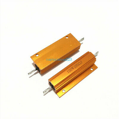 $4.40 • Buy 2pcs RX24 100W 0.01R To 100K Ohm Aluminum Shell Case Power Wirewound Resistor 5%