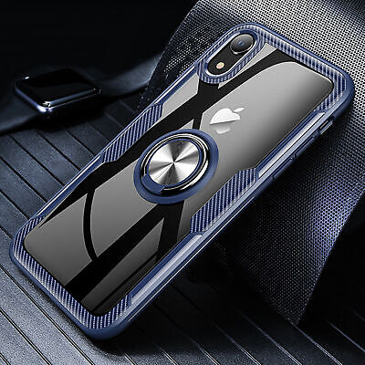 AU8.28 • Buy Metal Magnetic Case Cover With Car Ring Holder Buckle For IPhone XS Max 8 7 Plus