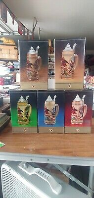 $ CDN98.64 • Buy Anheuser-Busch Lidded Steins - Limited Edition - Tomorrow's Treasures Set Five