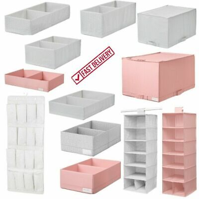 IKEA Wardrobe Storage Chest Drawer Organiser Clothes Box With Compartments NEW • 13.45£