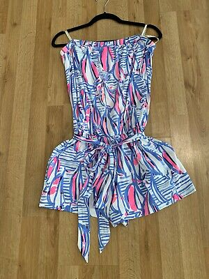 $84.99 • Buy Lilly Pulitzer Ritz Romper Pop Up Red Right Return Size Large