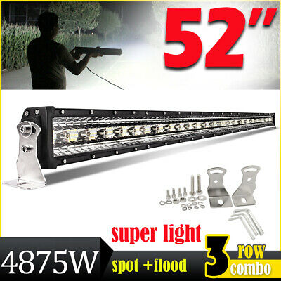 $114.62 • Buy 52inch 4875W Tri-row LED Light Bar Combo Beam Lamp For Offroad Truck SUV ATV 50
