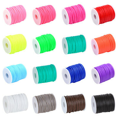 $ CDN12.67 • Buy 1 Roll Hollow Silicone Rubber Cords Elastic Craft String Tubes 2mm 3mm 4mm 5mm
