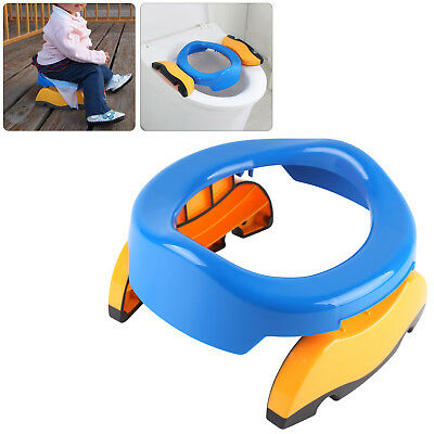 Kids Potty Training Travel Portable Foldable Toddler Toilet Safe Seat Plastic UK • 7.89£