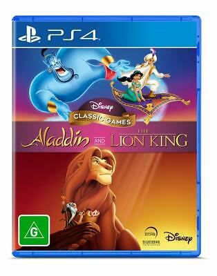 AU98 • Buy Aladdin And The Lion King Sony PS4 Family Kids Retro Disney Game Playstation 4