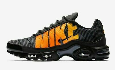 $104.95 • Buy Nike Air Max Plus TN SE Men's Sportswear Shoes AT0040 002 Black Orange Yellow