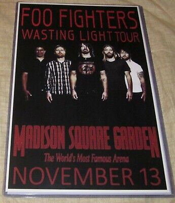 $13.99 • Buy Foo Fighters 2011 Madison Square Garden Replica Concert Poster