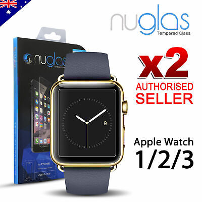 AU9.80 • Buy 2X Genuine NUGLAS Tempered Glass Screen Protector For Apple Watch Series 1/2/3/4