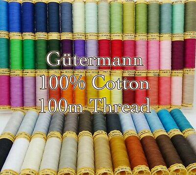 £2.49 • Buy Gütermann Cotton Thread 100m Reel Machine And Hand Sewing Quilting 100 Colours