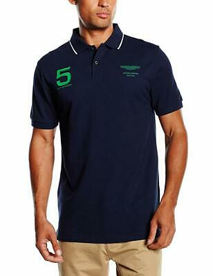 Hackett Aston Martin Racing Navy Polo Shirt Brand New Sealed Packet Free UK SHIP • 50£