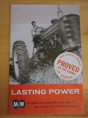 $18.50 • Buy M&W Gear Co. Tractor Brochure Farmall IH Pistons Governor 9 Speed Hand Clutch JD