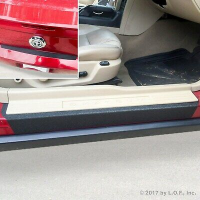 $36.95 • Buy Fits 05-09 Ford Mustang 3pc Door Sill Step Protector Bumper Threshold Shield Pad