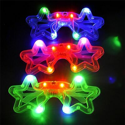 Led Glasses Star Shape Light Up Glowing Party Club Glasses For Kids Childrens • 2.49£