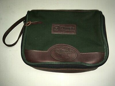 $ CDN95.15 • Buy JW Hulme Green Canvas Brown Leather Small Bag 11  Made In USA