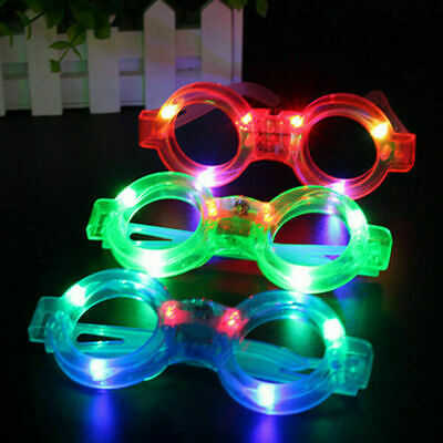 Led Glasses, Round Shape Light Up, Glowing,party And Club Glasses For Kids Child • 2.49£