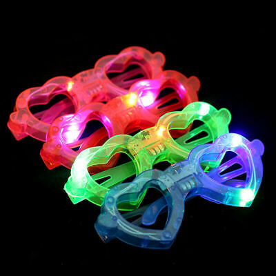 Led Glasses, Heart Shape Light Up, Glowing,party And Club Glasses For Kids Child • 2.49£