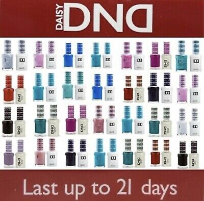 DND Daisy Gel Polish Soak Off + Nail Polish Duo Set - Pick Colour -  *UK SELLER* • 10.49£