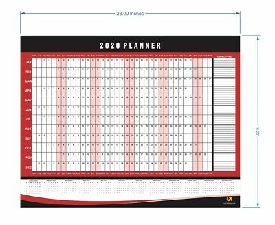 Wall Planner 2020 Calendar Family Personal Academic Year Chart A2 Size • 1.99£