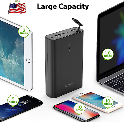 $154.93 • Buy 24000 26800 40200mAh Laptop Cell Power Bank Quick Charge Portable Charger Mac Bo
