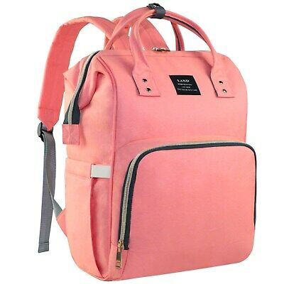 AU35.99 • Buy GENUINE LAND Mommy Baby Diaper Bag Nappy Changing Backpack With Stroller Hooks