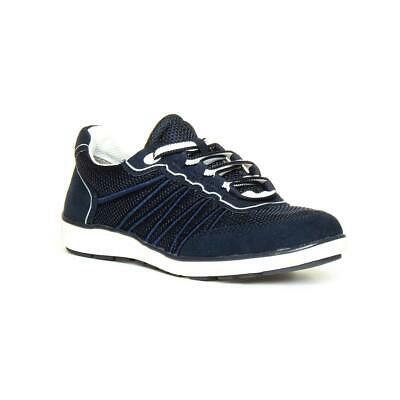 Womens Shoe Lace Up Casual Shoe In Navy By Jana Soft Line • 29.99£