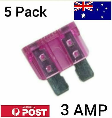 AU3.95 • Buy 5pcs 3A 3Amp Regular Standard Blade ATO Fuses For Cars Trucks Auto Gray