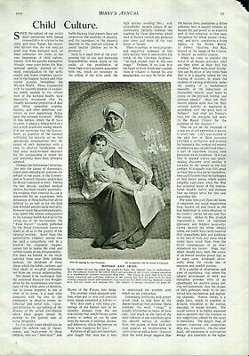 Antique B&W Illustrated Print From Bibbys Annual Paul Thumann 1916 • 6.89£