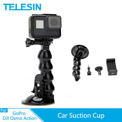 £6.37 • Buy TELESIN Suction Cup Flexible Mount Holder & Phone Clip For GoPro DJI Osmo Action