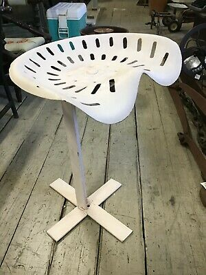 AU99 • Buy Vintage Hand Made Tractor Seat Chair Stool FARMHOUSE Rustic Metal