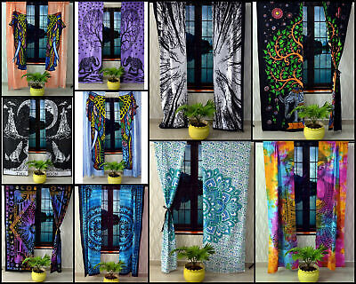 Cotton Door Decor Indian Wall Hanging Beautiful Design Door Window Curtain Art   • 11.75£