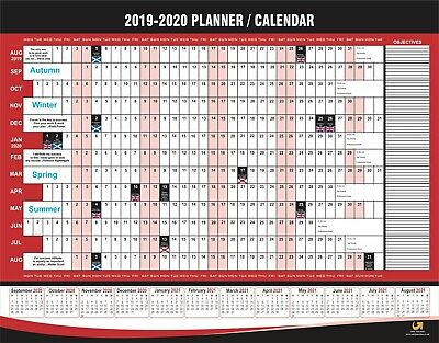 Wall Calendar 2019 2020 Year Planner Chart Family Organisor A2 Size Aug To Aug • 1.75£