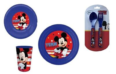 Mickey Mouse 4 Piece Meal Set With Plate, Bowl, Tumbler And Cutlery Set • 9.99£