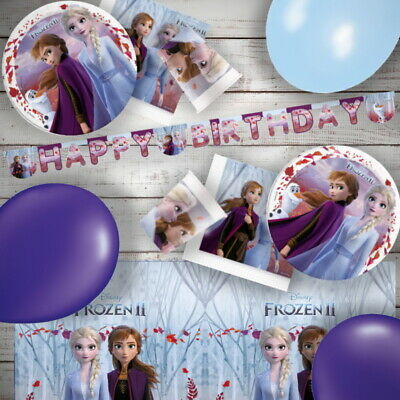 Disney Frozen 2 Olaf Elsa Anna Party Tableware, Decorations And Balloons • 3.25£