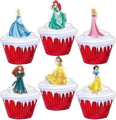 £1.99 • Buy 24 Disney Princess Stand Up Cup Cake Toppers Edible Birthday Party Decorations
