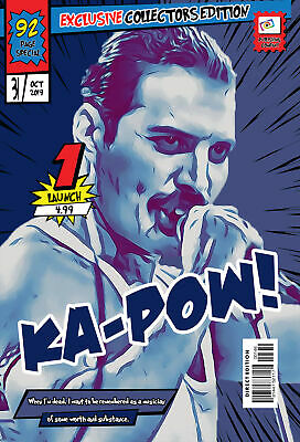 Freddie Mercury Comic Book Covers Art Print (Available In 4 Formats) • 13.99£