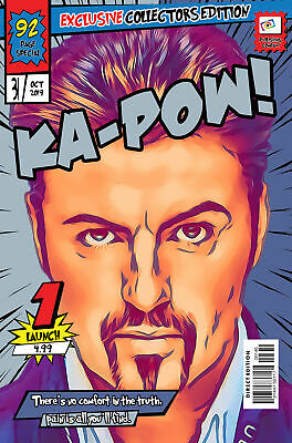 George Michael Comic Book Covers Art Print (Available In 4 Formats) • 9.99£