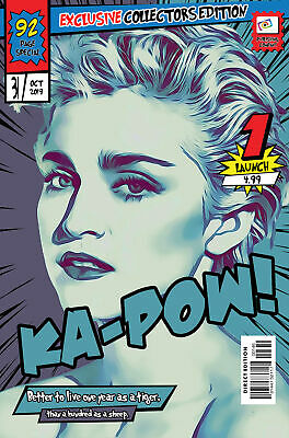 Madonna Comic Book Covers Art Print (Available In 4 Formats) • 22.99£