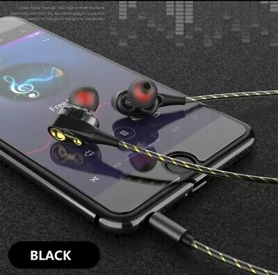 £3.99 • Buy New Magnetic Wired Stereo In-Ear Earphones Super Bass Dual Drive Microphone