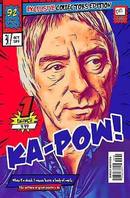 Paul Weller Comic Book Covers Art Print (Available In 4 Formats) • 9.99£