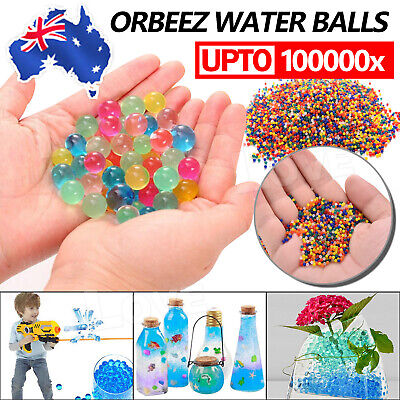 AU4.95 • Buy 100000Pcs Water Beads Gel Balls Orbeez Crystal Soil Plant Wedding Decoration AU
